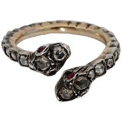 Georgian Era Rare Diamond Snake Eternity Ring