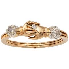 Georgian Fedé and Gimmel Ring