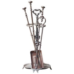 Georgian Fire Irons or Fireplace Tool Set, 18th-19th Century