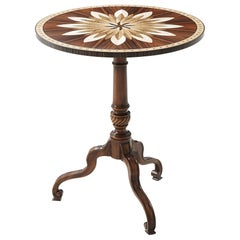 Georgian Floral Inlaid Side Table