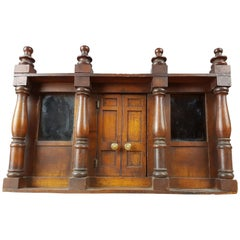 Georgian Fruitwood Table Cabinet in Form of a Folly
