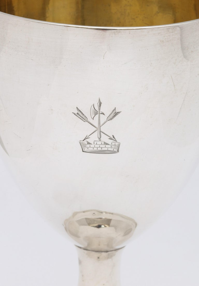 English Georgian 'George III' Irish Sterling Silver Goblet For Sale