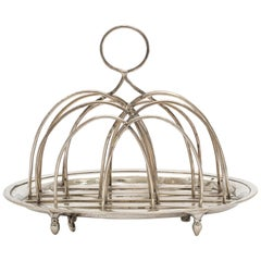 Georgian 'George III' Sterling Silver Footed Toast Rack