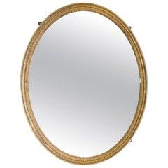 Georgian Gilt Composition Oval Mirror