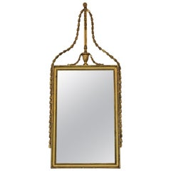 Georgian Gilt Overmantle Wall Mirror