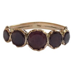 Georgian Gold and Foil Backed Garnet Ring
