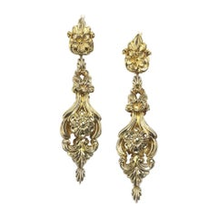 Georgian Gold Drop Earrings, Circa 1820
