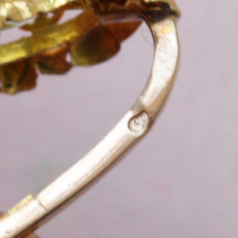Georgian Gold Girandole Aquamarine Pink Topaz 18 Karat Gold Dangle Drop Earrings For Sale 1