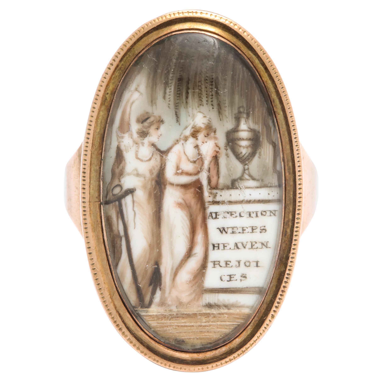 "Georgian Gold Memorial Ring ""Affection Weeps"""