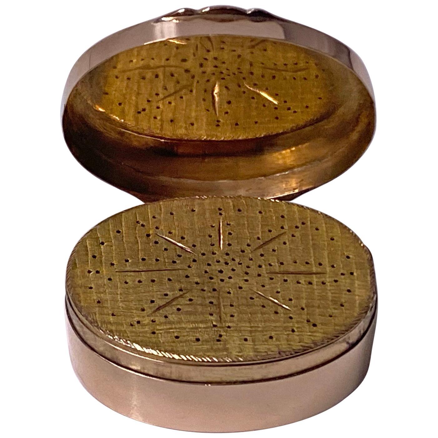 Georgian Gold Vinaigrette, circa 1800