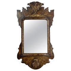 Georgian Hand Carved Phoenix Mirror, Dated 1721