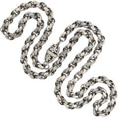 Georgian Handmade Textured Link Chain Necklace
