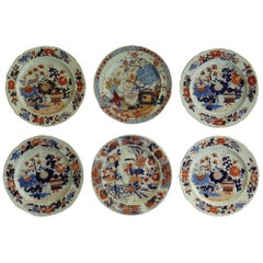 Georgian Harlequin Set of Six Mason's Ironstone Dinner Plates, circa 1815