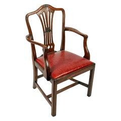Georgian Hepplewhite Elbow Chair, 19th Century