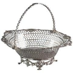 Georgian Irish Silver Basket Dublin, 1760