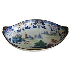 Georgian Ironstone Dish by Hicks & Meigh in Chinese Landscape Pattern circa 1818