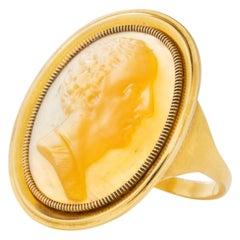 Georgian Lord Byron Shell Cameo Ring