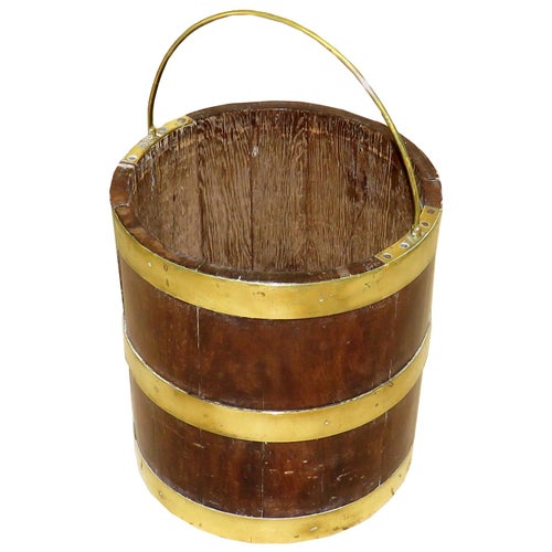 Georgian Mahogany and Brass Bound Bucket