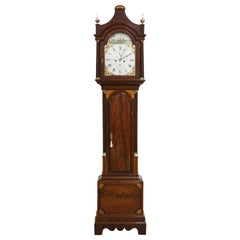 Georgian Mahogany and Inlaid Longcase Clock by Mummery, Dover