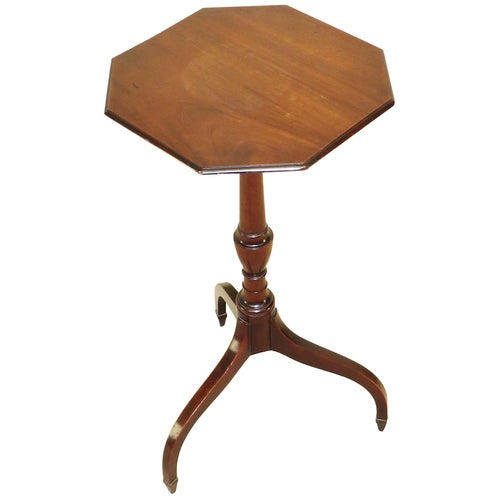Georgian Mahogany Antique Octagonal Occasional Wine Table