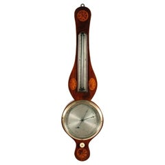 Georgian Mahogany Barometer & Thermometer, 19th Century