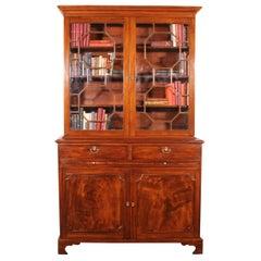 Georgian Mahogany Bookcase, England