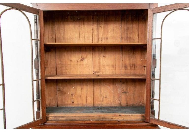 Georgian Mahogany Bookcase Secretary For Sale 7