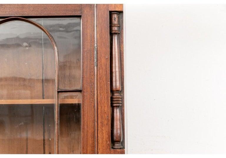 Georgian Mahogany Bookcase Secretary In Good Condition For Sale In Bridgeport, CT
