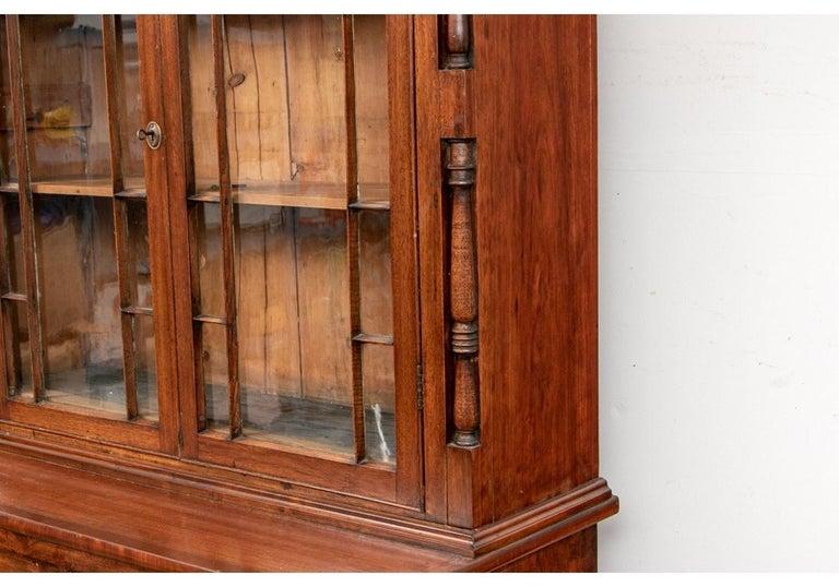 Georgian Mahogany Bookcase Secretary For Sale 1