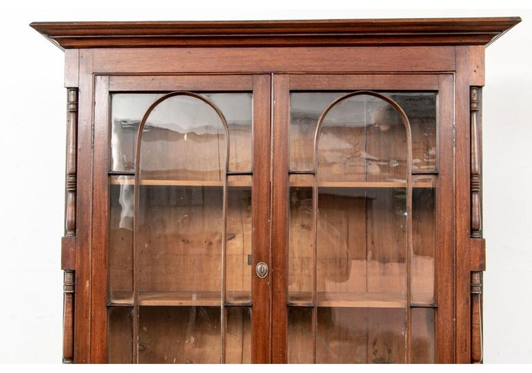 Georgian Mahogany Bookcase Secretary For Sale 2