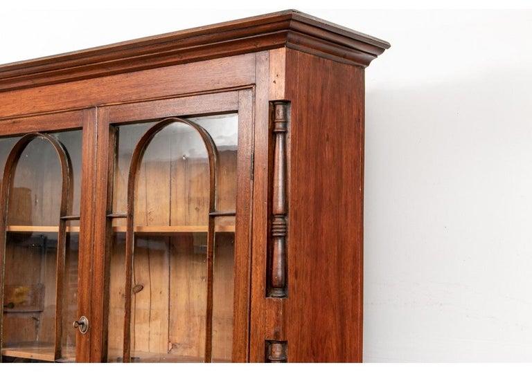 Georgian Mahogany Bookcase Secretary For Sale 5