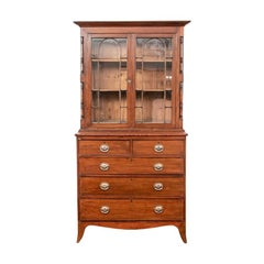 Georgian Mahogany Bookcase Secretary