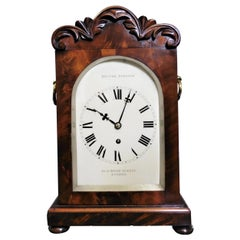 Georgian Mahogany Bracket Clock by Hector Simpson, London