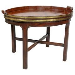 Georgian Mahogany Brass Bound Tray Table
