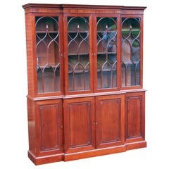 Georgian Mahogany Breakfront Library Bookcase