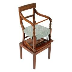 Georgian Mahogany Child's High Chair, 19th Century