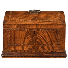 Georgian Mahogany Domed Box