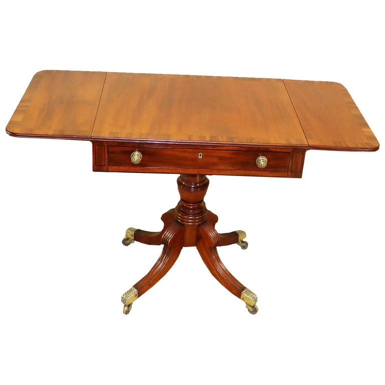 Regency Mahogany English Antique 19th Century Pembroke Table