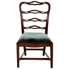 Georgian Mahogany English Side Chair, circa 1790