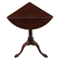 Georgian Mahogany Folding Wine Side or Supper Table