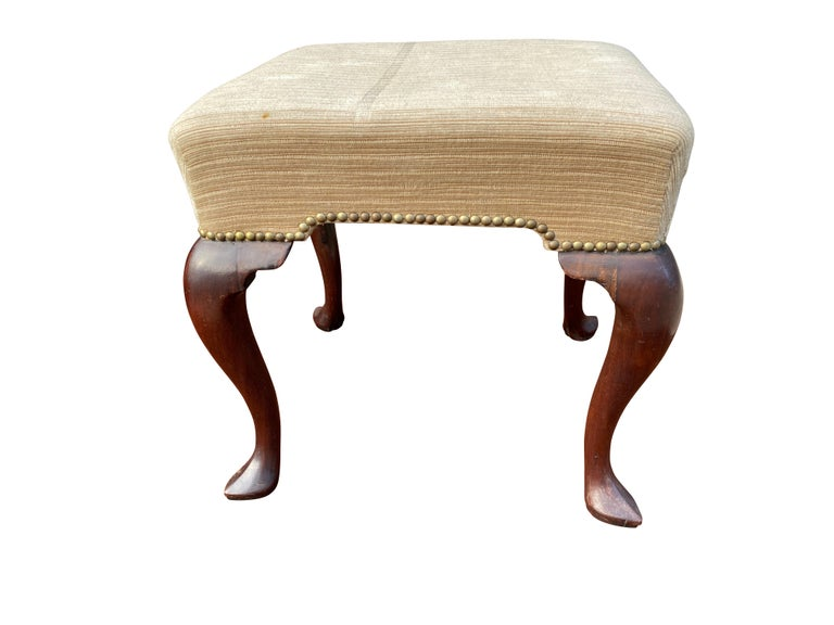 Georgian Mahogany Foot Stool In Good Condition In Essex, MA