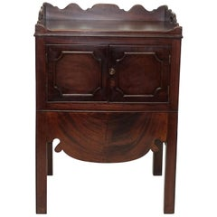 Georgian Mahogany Gentleman's Washstand, Side Table Cabinet, English, circa 1800