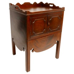 Georgian Mahogany Gentleman's Washstand, Side Table Cabinet, English, circa 1830