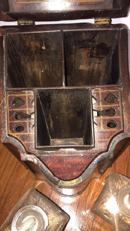 Inlay Georgian Mahogany Liqueur Box For Sale