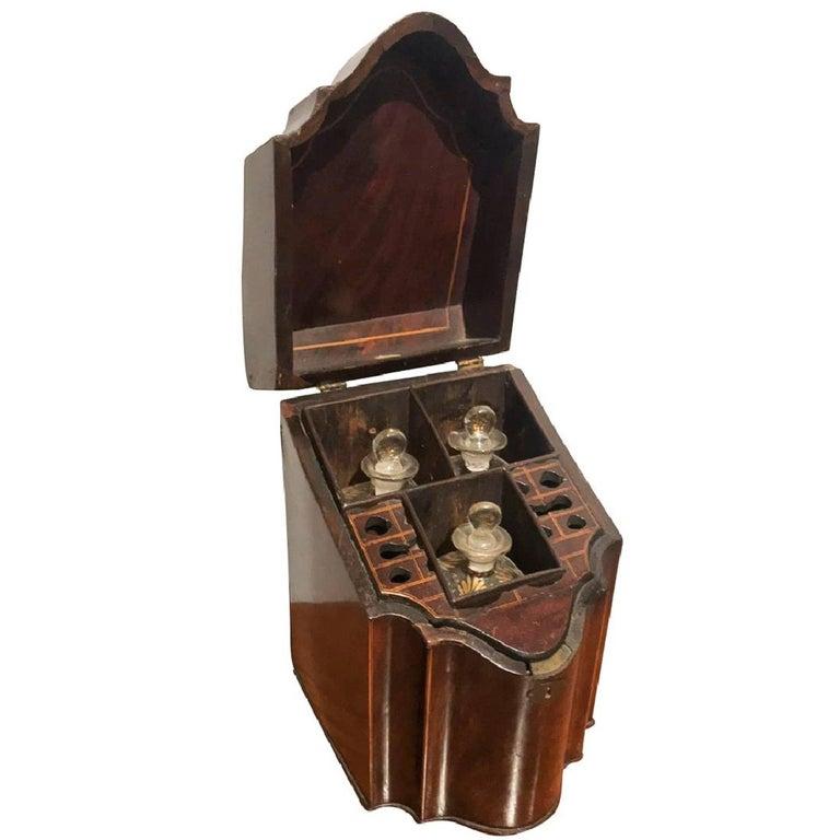 Georgian Mahogany Liqueur Box For Sale