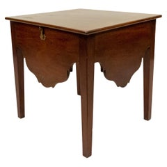 Georgian Mahogany Low End Table with Lift Top