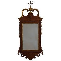 Georgian Mahogany Mirror with Satinwood Inlay, England, circa 1800s