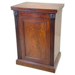Georgian Mahogany Pedestal Hall Cupboard
