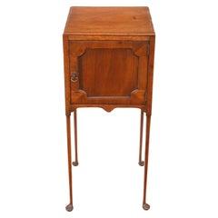 Georgian Mahogany Pot Bedside Table