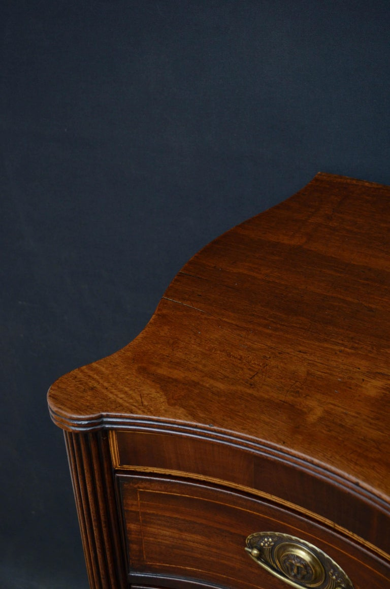 George III Georgian Mahogany Serpentine Chest of Drawers For Sale